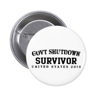 Survivor - Govt Shutdown 2013 6 Cm Round Badge