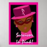 """Survivor In Pink"" Poster - Customisable"