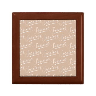 Survivor Modern Calligraphy Hand Lettering Design Small Square Gift Box
