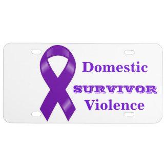 Survivor of Domestic Violence Auto Tag