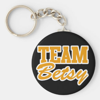 Survivor Team Betsy Basic Round Button Key Ring