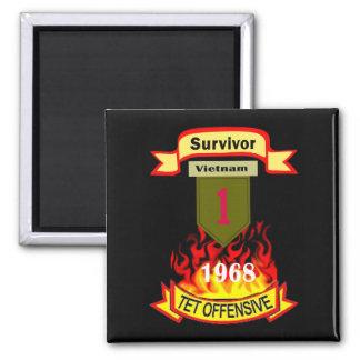 Survivor Vietnam Tet Offensive Magnet