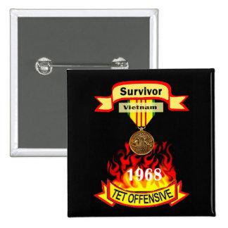 Survivor Vietnam Tet Offensive Pin