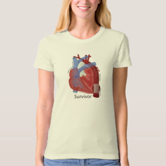 Survivor Women's Organic Cotton Tee Heart Art