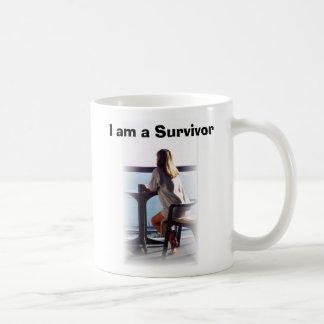 """Survivor's """"Tell the World"""" Basic White Mug"""