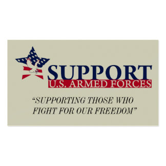 """SUSAForg logo, """"SUPPORTING THOSE WHO   FIGHT FO... Double-Sided Standard Business Cards (Pack Of 100)"""