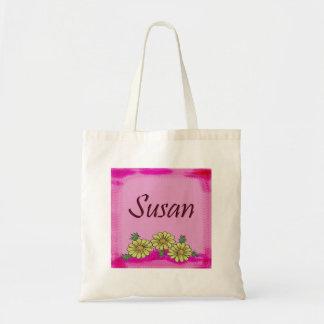 Susan Daisy Canvas Bags