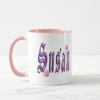 Susan, Name, Logo,  Pink Combo Coffee Mug. Mug