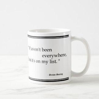 Susan Sontag Travel Quotes Mug