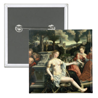 Susanna and the Elders, 1567 15 Cm Square Badge