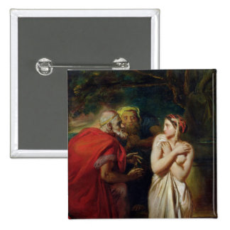 Susanna and the Elders, 1856 15 Cm Square Badge