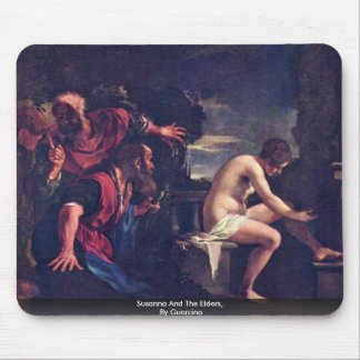 Susanna And The Elders, By Guercino Mousepads