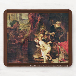Susanna And The Elders By Rembrandt Harmensz. Van Mouse Pad