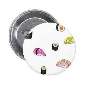 Sushi and Sashimi 6 Cm Round Badge