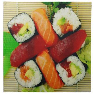 Sushi and Sashimi Cloth Napkins