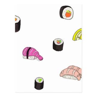 Sushi and Sashimi Postcard