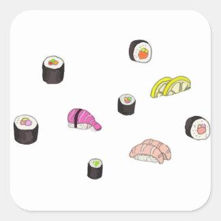 Sushi and Sashimi Square Sticker