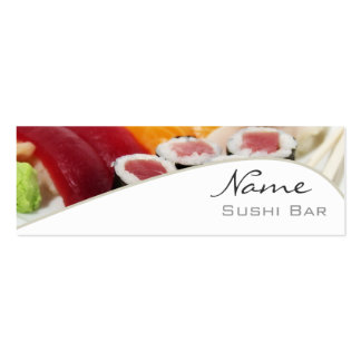 Sushi Bar Business Card Pack Of Skinny Business Cards