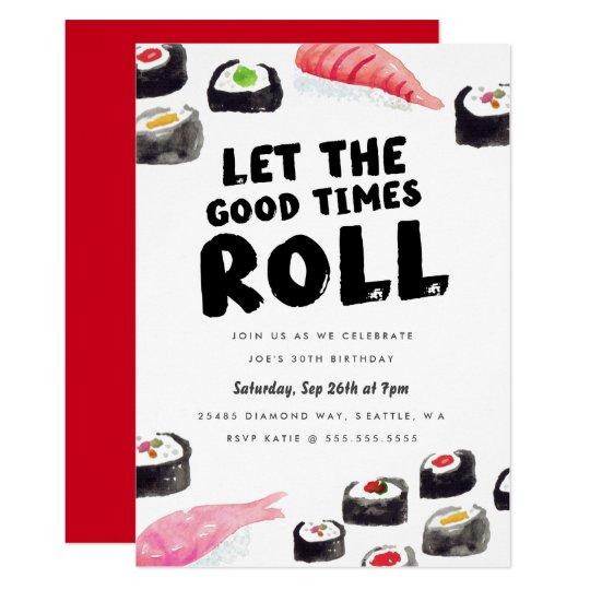 Sushi birthday party invitation zazzle sushi birthday party invitation stopboris Images