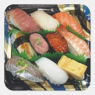 Sushi Box  Japanese Food Square Sticker