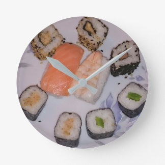 SUSHI! by Jean Louis Glineur - Food Round Clock