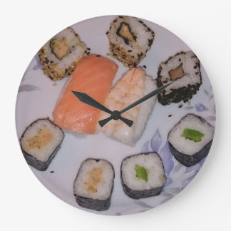 SUSHI! by Jean Louis Glineur Large Clock