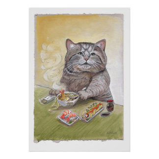 Sushi Cat Tempura Udon Poster