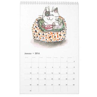 Sushi Cats Calendar