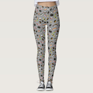 Sushi Characters Pattern Leggings