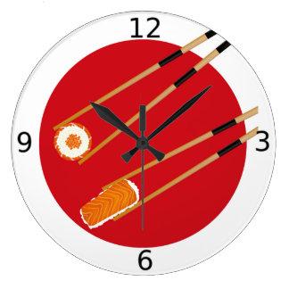 Sushi Chef Japanese Cusine Chef Gift Large Clock
