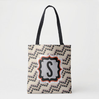 Sushi Chevron with Custom Text Tote Bag