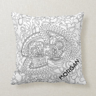 Sushi CL06 Adult Colouring Add A Name Reversible Cushion
