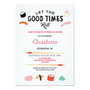 Lunch 50th birthday invitations zazzle sushi dinner lunch japanese birthday party invite filmwisefo