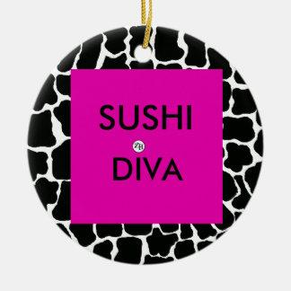 Sushi Diva Ornament by Zan Hanhof