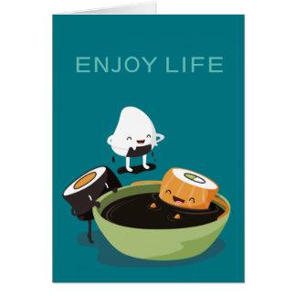 Sushi enjoy bath time funny card