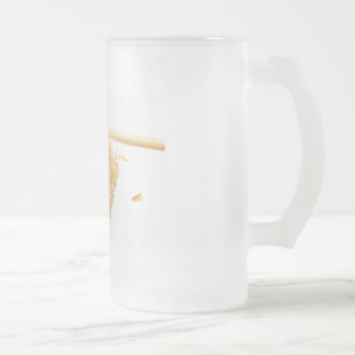 sushi frosted glass beer mug