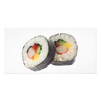 Sushi - Futomaki Custom Photo Card