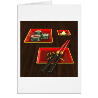 Sushi in Red Greeting Card