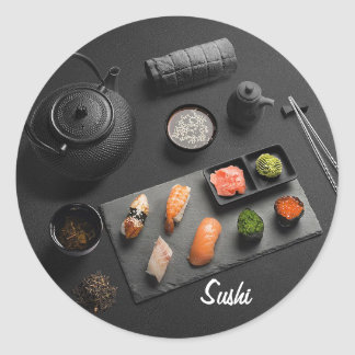 Sushi Japanese Ritual Classic Round Sticker