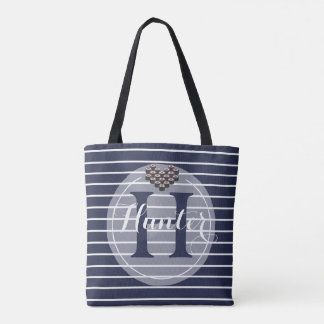 Sushi Love with Custom Name Text Tote Bag
