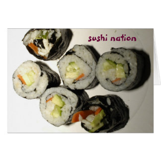 Sushi Nation Greeting Card