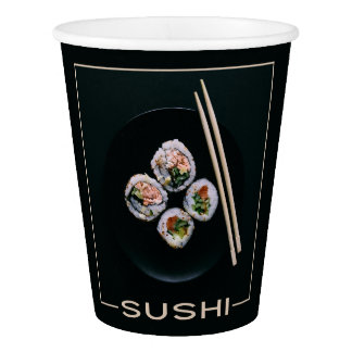 Sushi paper cups