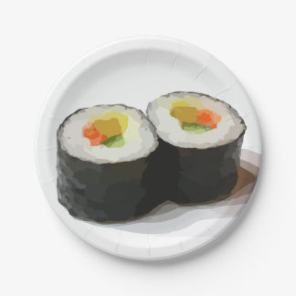 Sushi Paper Plates