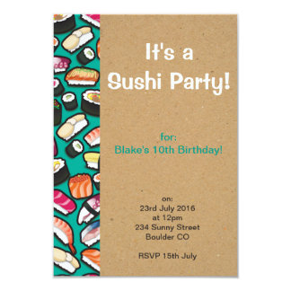 Sushi Party Invitation