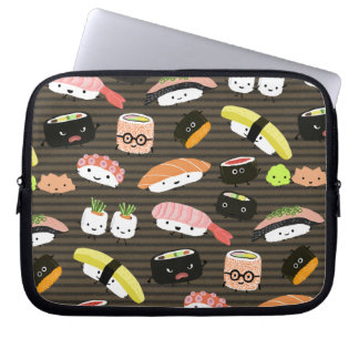 Sushi Party - Sushi Rolls, Sashimi, Wasabi, Ginger Laptop Sleeve