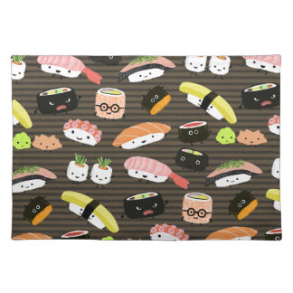 Sushi Party - Sushi Rolls, Sashimi, Wasabi, Ginger Placemat