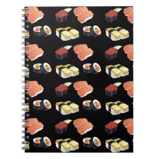 Sushi pattern notebooks