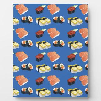 Sushi pattern plaque