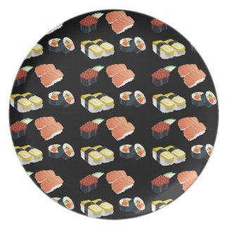 Sushi pattern plate