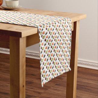 Sushi pattern short table runner